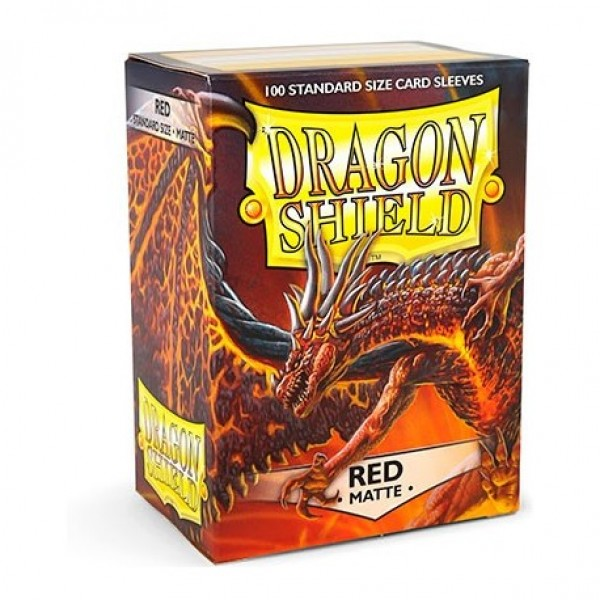 DRAGON SHIELD STANDARD SLEEVES - RED MATTE (100X)
