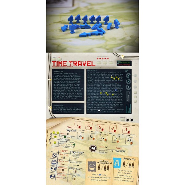 ROBINSON CRUSOE: ADVENTURE ON THE CURSED ISLAND - TIME TRAVEL SCENARIO + 4 X FISH TOKENS