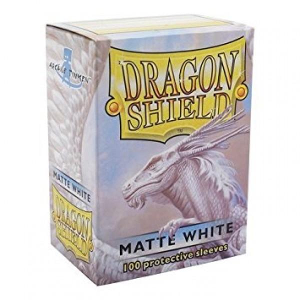DRAGON SHIELD STANDARD SLEEVES - WHITE MATTE (100X)
