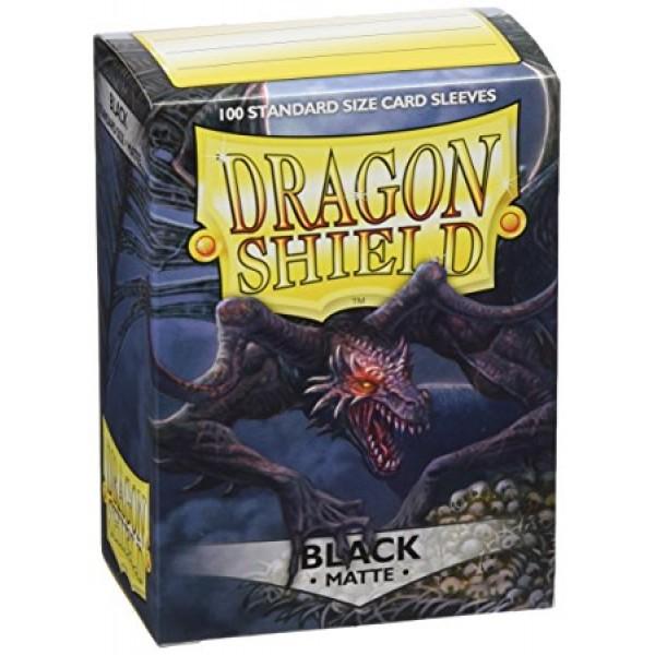 DRAGON SHIELD STANDARD SLEEVES - BLACK MATTE (100X)