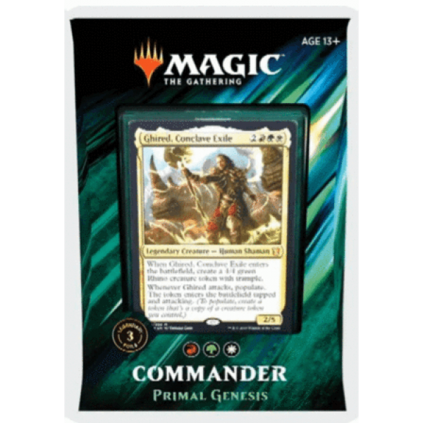 MAGIC THE GATHERING - COMMANDER 2019 - PRIMAL GENESIS