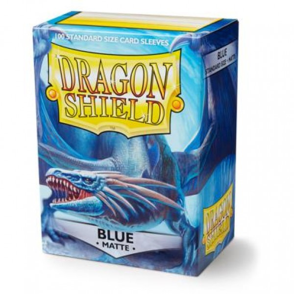 DRAGON SHIELD STANDARD SLEEVES - BLUE MATTE (100X)