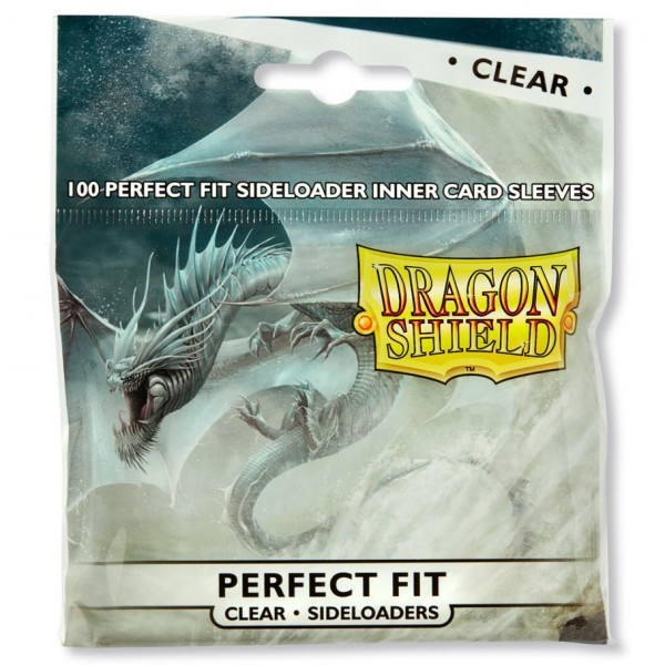 DRAGON SHIELD STANDARD SLEEVES - PERFECT SIZE - SIDELOADING - CLEAR - 100X