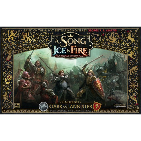 A SONG OF ICE AND FIRE: TABLETOP MINIATURES GAME - STARK VS LANNISTER STARTER SET