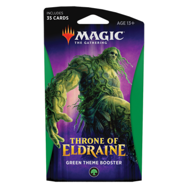 MAGIC THE GATHERING - THRONE OF ELDRAINE - THEME BOOSTER - GREEN