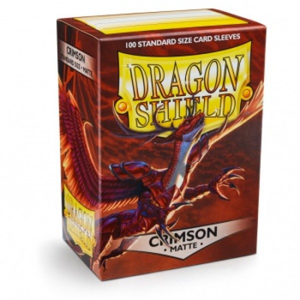 DRAGON SHIELD STANDARD SLEEVES - CRIMSON MATTE (100X)